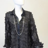 Black Organza 3D Blouse