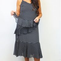 Black Polka Dot Floaty Dress