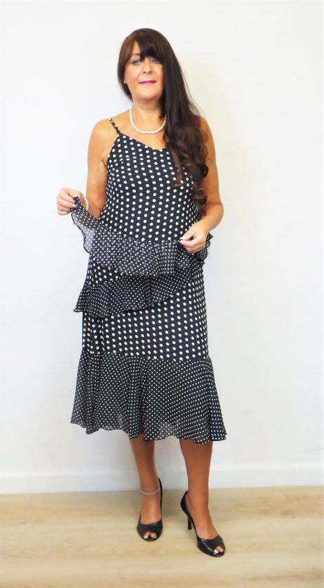 Black Polka Dot Floaty Dress