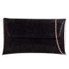Black Snakeskin Clutch Bag