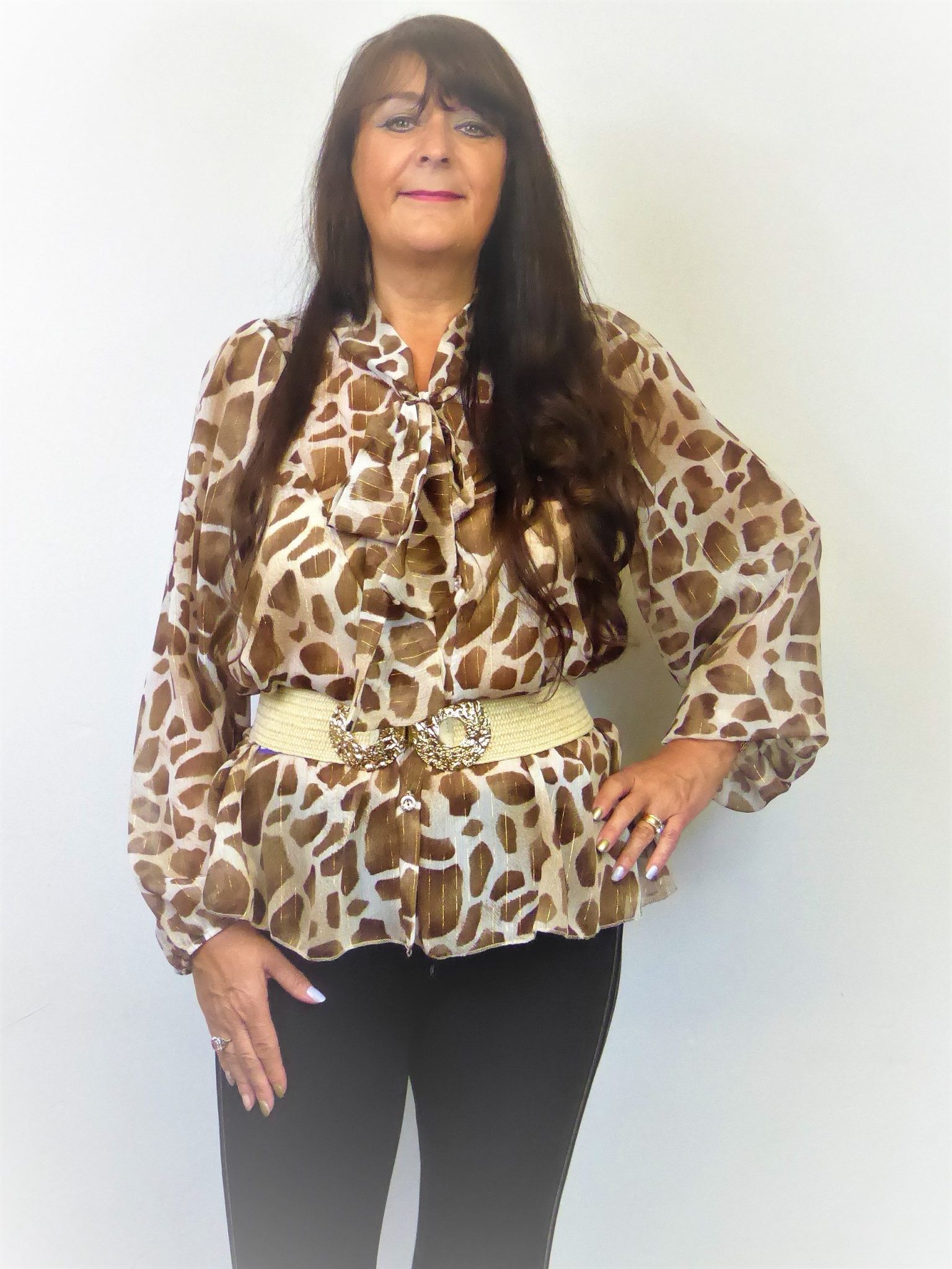 Brown Pussy Bow Blouse - Love4Bags Boutique