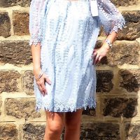 Light Blue Bardot Dress