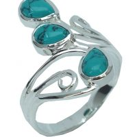 Silver Ring Turquoise Stones