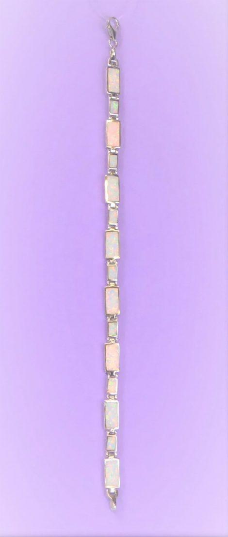 925 Silver Fire Opal Bracelet