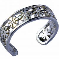 925 Silver Flower Band Toe Ring