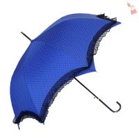 Blue Polka Dot Lacey Brolly