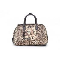 Brown Leopard Holdall