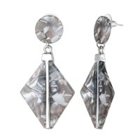Grey 3D Dangley Earrings
