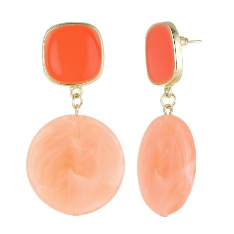Orange Dangley Earrings