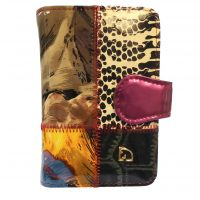 Patent Leather Mosaic Purses