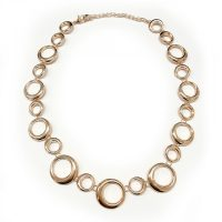 Rose Gold Hoops Necklace