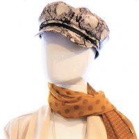 Snakeskin Baker Boy Hat