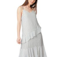 White Polka Dot Floaty Dress