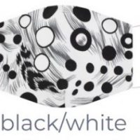 Black and White Cotton Face Mask
