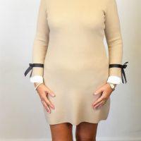 Fawn Knit Bow Dress