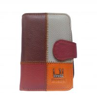 Grained Leather Mosaic Purse