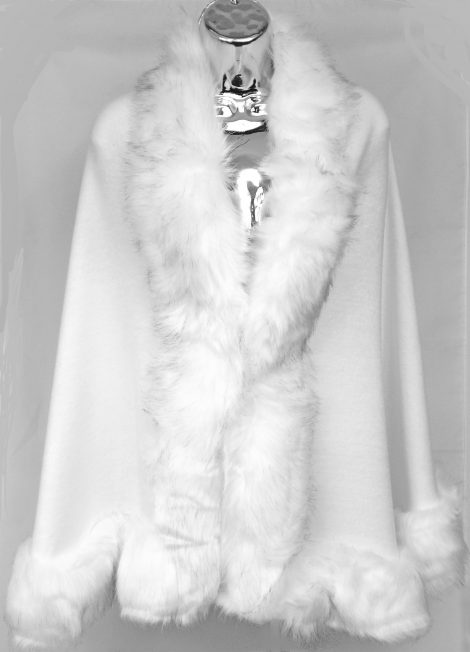 White Faux Fur Wrap