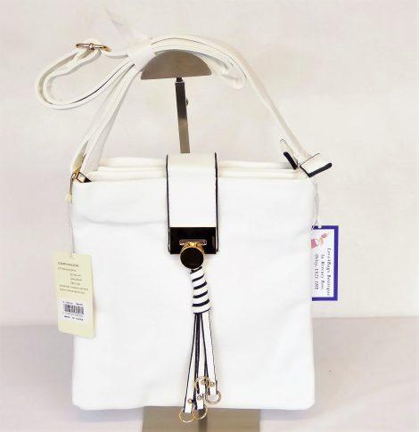 White Goldmetal Shoulder Bag