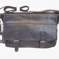 Black Unisex Satchel Bag