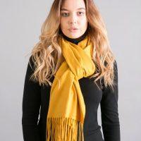 Mustard Cashmere Pashmina Shawl