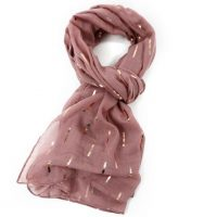 Pink Foil Lined Scarf