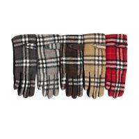 Tartan Pattern Gloves