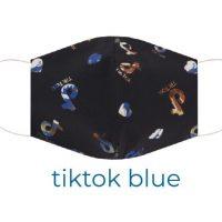 Tiktok Blue Teens Cotton-Print-Face-Mask