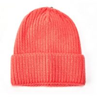 Coral Knitted Woolly Hat
