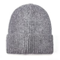 Grey Knitted Woolly Hat