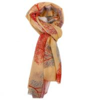 Yellow Sycamore Tree Scarf