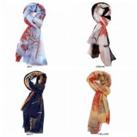 Printed Sycamore Tree Scarves