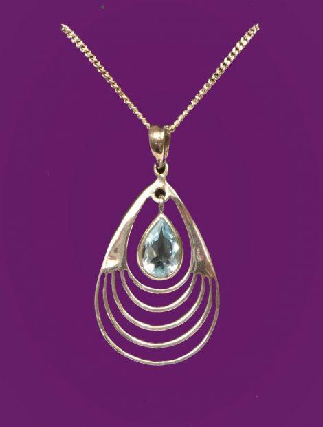 925 Blue Topaz Necklace