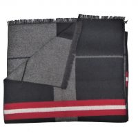 Black Tartan Silk Scarf