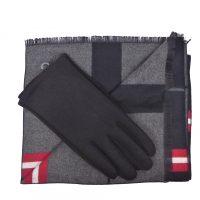 Black Tartan Scarves Set
