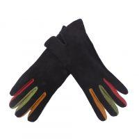 Black Genuine Suede Gloves