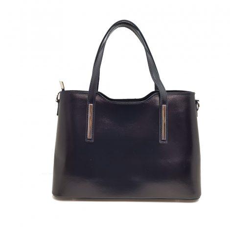 Black Shiny Paula Handbag