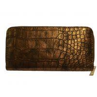 Bronze Metallic Croc Purse