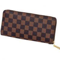 Brown Checker Fashion Purse