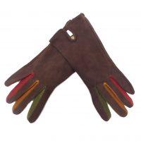 Brown Genuine Suede Gloves