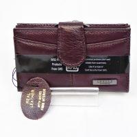 Burgendy Genuine Leather RFID Purse