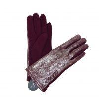 Burgundy Shiny Gloves