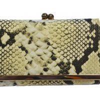 Cream Snakeskin Fashion Purse