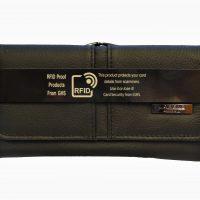 Black Large Leather Clasp Purse