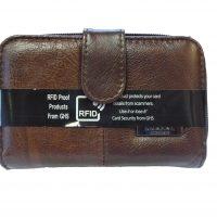 Medium Leather Purse Brown 3706