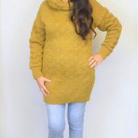 Mustard Long Polo Jumper