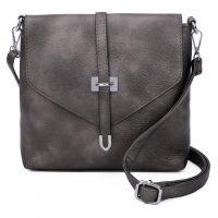 Pewter Shoulder-Across Body Bag