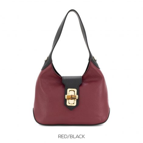 Red/Black Leather Handbag