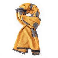 Mustard Terry Flowers Scarf