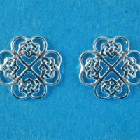 925 Silver Celtic Earrings