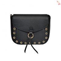 Black Saddle Shoulder Bag